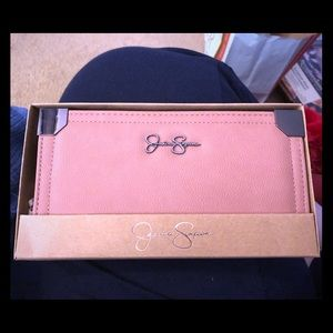 NWT Jessica Simpson Frankie Wallet in Pink Sand